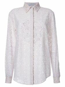 Stella McCartney floral lace shirt - White