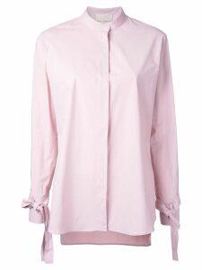 Erika Cavallini laced cuffs shirt - Pink