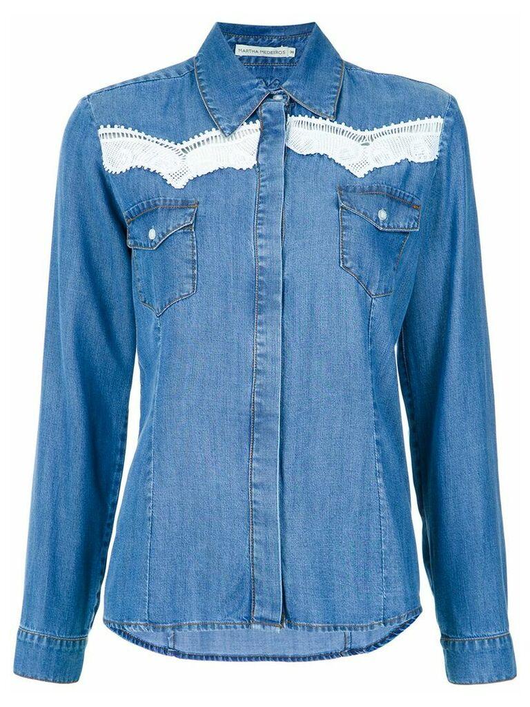 Martha Medeiros Mica denim shirt - Blue