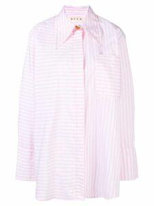 Marni oversized striped shirt - Pink