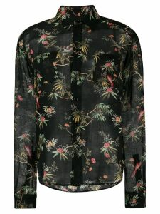 Saint Laurent floral print shirt - Black