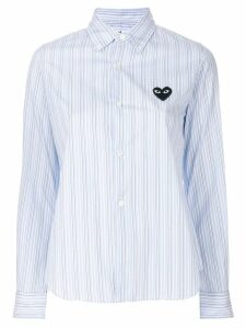 Comme Des Garçons Play classic striped shirt - Blue