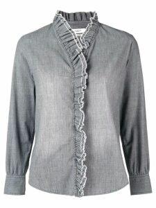 Isabel Marant Étoile frilled embellished shirt - Grey