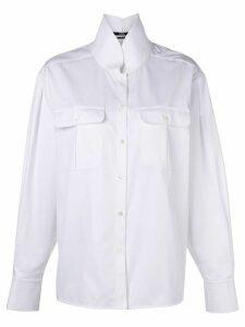 Karl Lagerfeld Karl shirt with top stitching - White