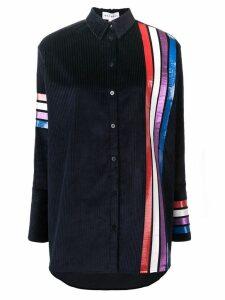 Mira Mikati Adrenaline Seekers print corduroy shirt - Blue