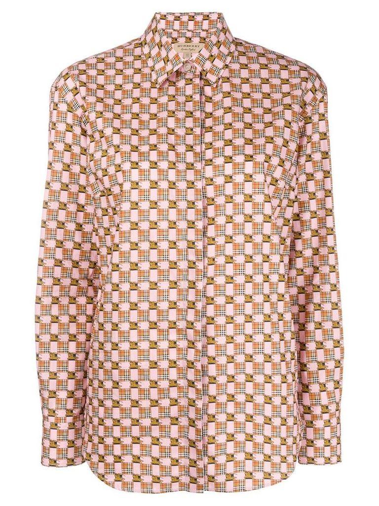 Burberry printed button down shirt - Pink