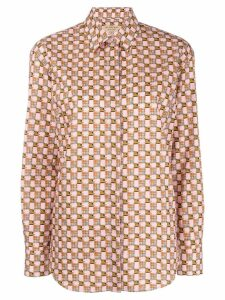 Burberry printed button down shirt - Pink