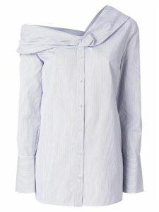 Victoria Victoria Beckham off-the-shoulder striped shirt - Blue