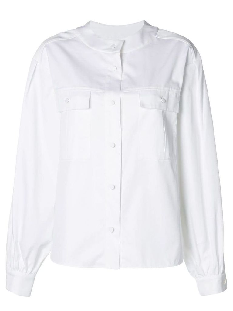 Karl Lagerfeld Karl round collar shirt - White