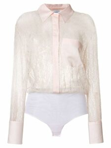Dondup sheer lace shirt - 510 Rosa