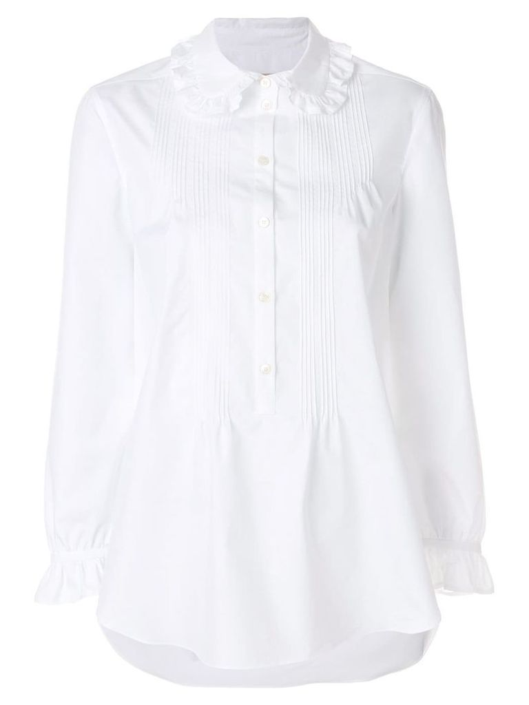 Burberry ruffled detail shirt - White