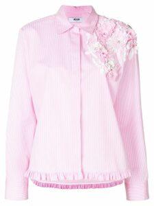 MSGM floral appliqué shirt - Pink