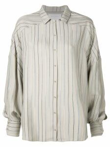 Esteban Cortazar striped pattern loose shirt - Neutrals