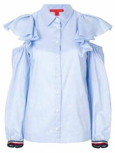 Tommy Hilfiger ruffled cold shoulder shirt - Blue