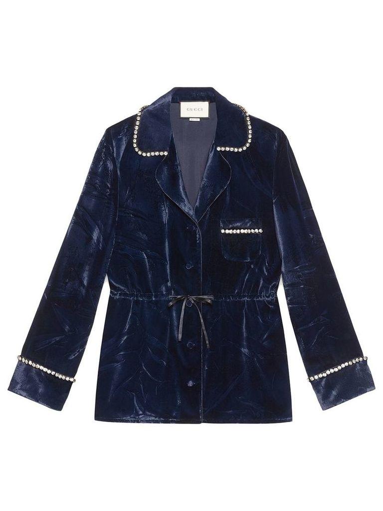 Gucci Velvet pajama shirt - Blue