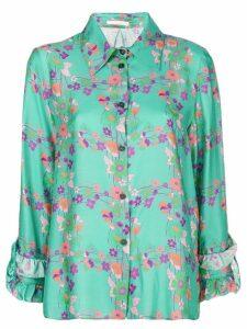 Kristina Ti floral print shirt - Green