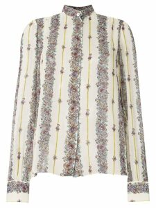 Giambattista Valli embroidered long-sleeve shirt - NEUTRALS