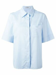 Lanvin boxy short sleeved shirt - Blue