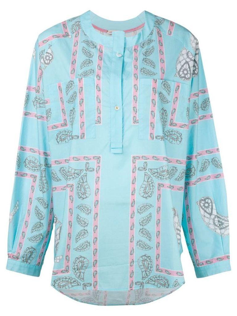 Natasha Zinko printed shirt top - Blue