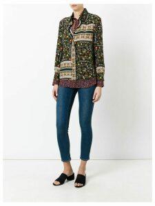 Nº21 patchwork floral shirt - Black