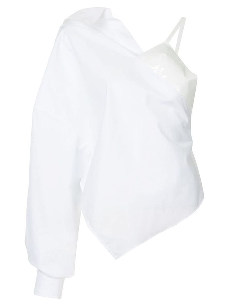 Paula Knorr one sleeved shirt - White