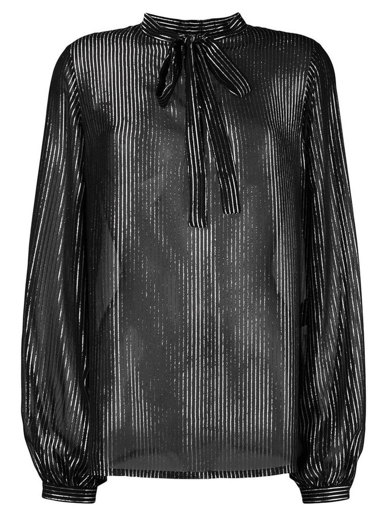 Saint Laurent striped lamé shirt - Black