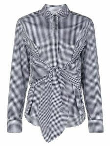 Rag & Bone waist-knot shirt - Blue