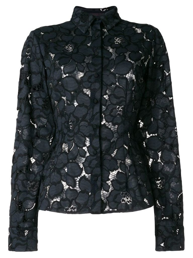 Talbot Runhof lotus lace shirt - Black