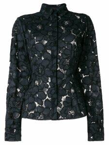 Talbot Runhof lotus lace shirt - Black