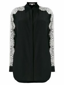 Stella McCartney lace-embroidered shirt - Black