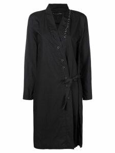 Alchemy longline wrap shirt - Black