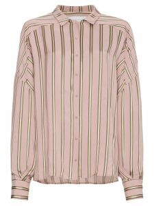 Esteban Cortazar Striped Satin Shirt - Pink