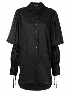 Ann Demeulemeester wide shirt - Black