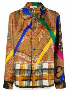 Pierre-Louis Mascia embroidered long-sleeve shirt - Yellow