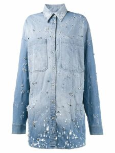 Faith Connexion embellished denim shirt - Blue