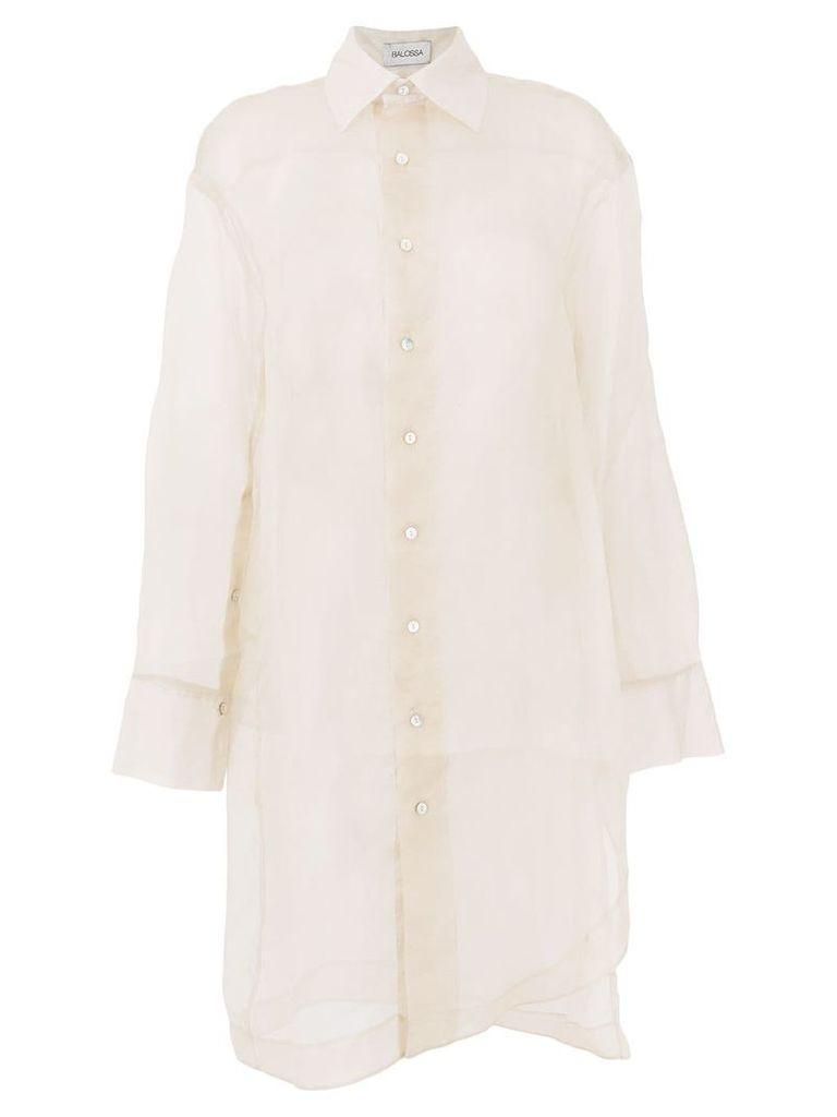 Balossa White Shirt long Hurell shirt - Neutrals