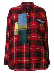 Ermanno Scervino contrast check shirt - Red