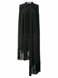 Givenchy asymmetric fringe trim blouse - Black