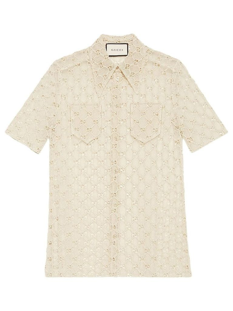 Gucci GG macramé shirt - Neutrals