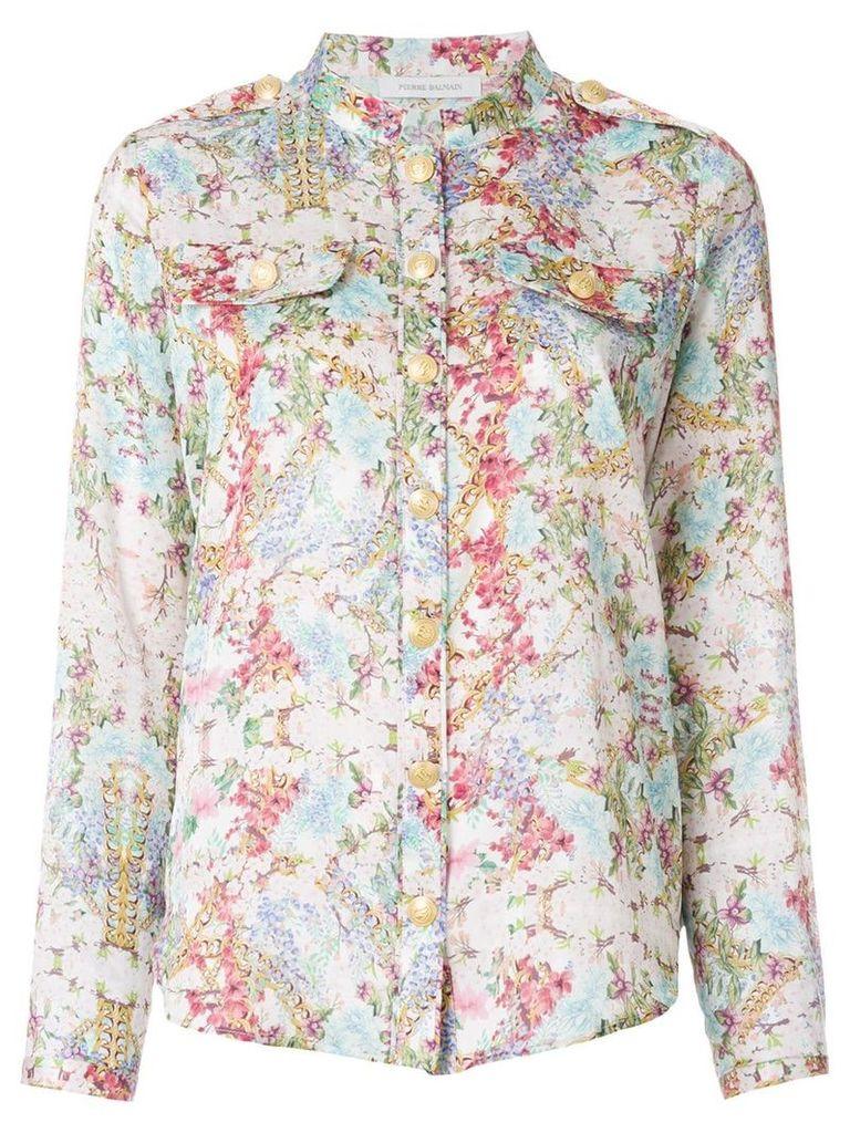 Pierre Balmain abstract print shirt - Multicolour