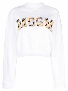 MSGM logo-print sweatshirt - White