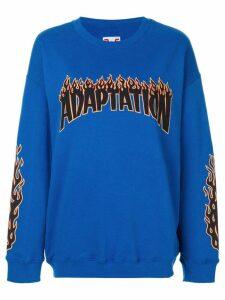 Adaptation logo sweatshirt - Blue