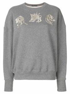Alexander McQueen AMQ embroidered sweatshirt - Grey