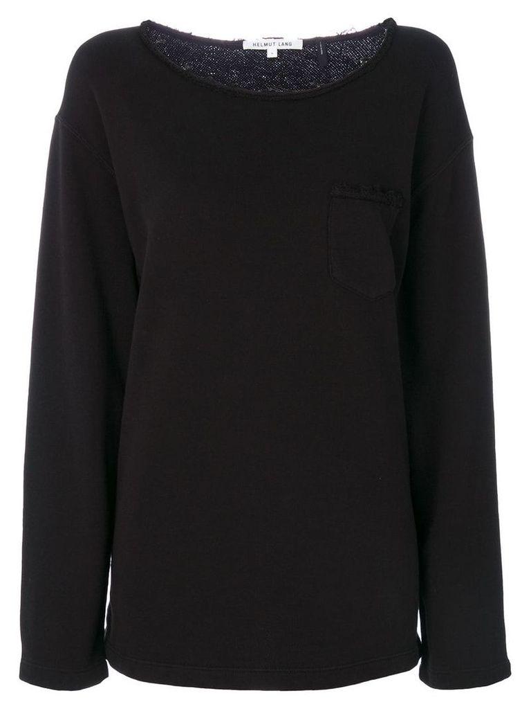 Helmut Lang raw-edge detail sweatshirt - Black