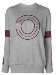 Victoria Victoria Beckham target logo sweatshirt - Grey
