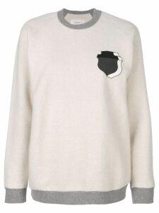 Julien David shield print sweatshirt - White