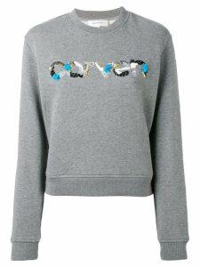 Carven sequin logo sweatshirt - Grey