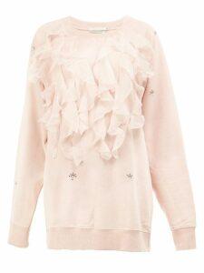 Faith Connexion ruffled applique sweatshirt - Pink