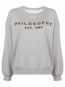 Philosophy Di Lorenzo Serafini drop shoulder logo sweatshirt - Grey