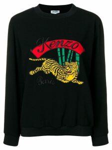 Kenzo tiger motif sweatshirt - Black